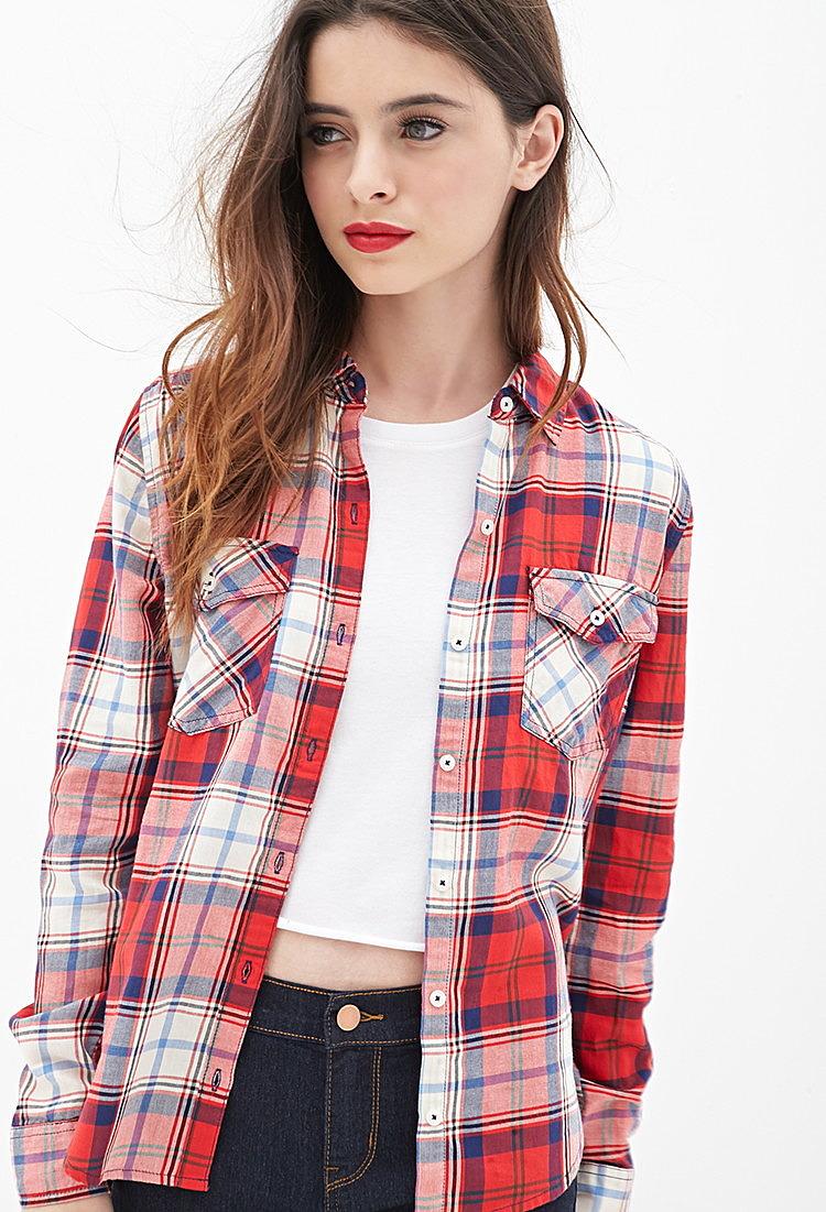 bbc361d001b Рубашка в клетку на пуговицах купить в интернет магазине женских ...