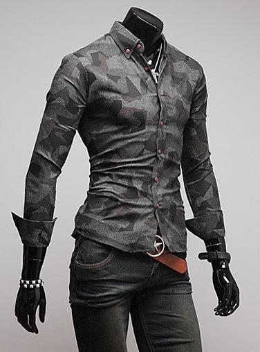 73578c9384e Мужская рубашка с узорами. современные мужские рубашки. самая ...