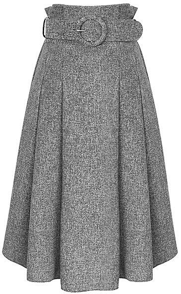 e2fdfe5a2f3 Плотная длинная юбка с поясом - цвет темно-серый. модные модели ...
